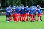 Domácí Hamry neustály derby divize C s áčkem Mšena a dostalo pět gólů.