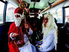 Čertovský autobus v Jablonci