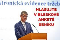Ministr financí Andrej Babiš a EET. Od 1. března to pojede ...