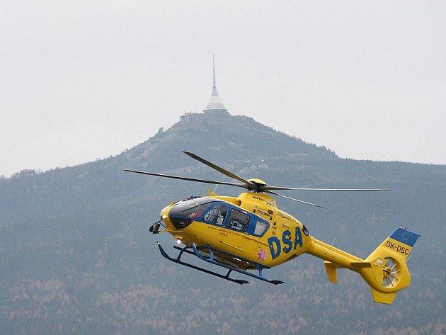 Letecká záchranná služba Libereckého kraje. Ilustrační snímek.