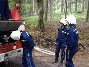 Sbor dobrovolných hasičů Zlatá Olešnice. Nácvik hašení Krkonoš 2008.