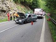 Nehoda pěti aut u Železného Brodu