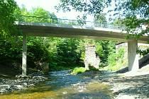 Nový most přes Kamenici v Návarově
