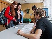Studentské prezidentské volby na Gymnáziu Dr. Antona Randy v Jablonci nad Nisou.