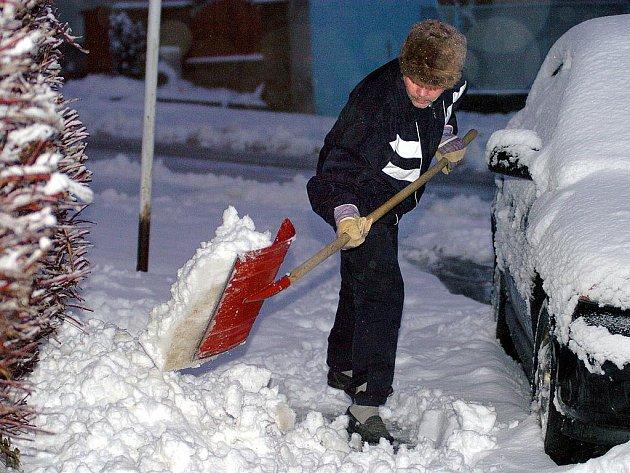 Hradlo na sníh.  Ilustrační snímek.