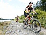 Ukazatel cyklostezky Ohře v Žatci