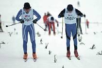 Závěrečné sprinty. Žáci se v kvalitní konkurenci činili a bojovali s velkým nasazením.