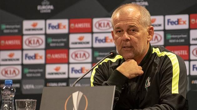 Na tiskové konferenci před zápasem Evropské ligy mezi FK Jablonec a Dynamo Kyjev potvrdil kapitán týmu Tomáš Hübschman i trenér Petr Rada, že budou hrát svůj fotbal a bojovat o každou šanci vyhrát.