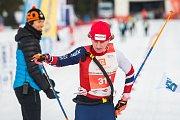 Závod v klasickém lyžování, Hervis Jizerská 25, proběhl 17. února v Bedřichově na Jablonecku v rámci série závodů Jizerské padesátky. Hlavní závod na 50 kilometrů zařazený do seriálu dálkových běhů Ski Classics se pojede 18. února 2018. Na snímku je vítěz