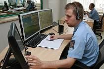 Operační středisko policie, kde zazvoní tísňová linka