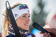 Závod v klasickém lyžování, Volkswagen Bedřichovská 30, odstartoval 16. února v Bedřichově na Jablonecku Jizerskou padesátku. Hlavní závod zařazený do seriálu dálkových běhů Ski Classics se pojede 18. února 2018. Na snímku je Kristýna Fleissnerová.