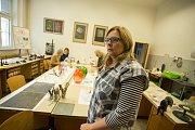 LSD (letní sklářská dílna) odstartovala poslední dny před slavností skla Skleněné městečko. Letos se tvorba zaměřila na malování skla. Na snímku malířka Iveta Šulcová.