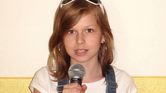Zuzana Zangová ze Základní školy Liberecká ve čtvrtek soutěží v celorepublikovém finále řečnické soutěže.