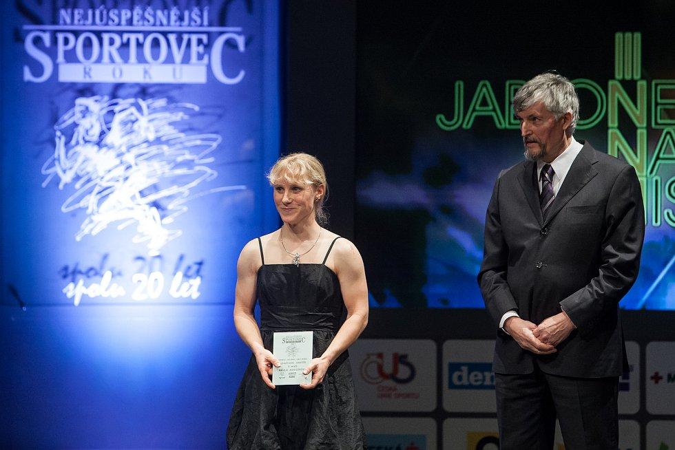Slavnostní vyhlášení ankety Nejúspěšnější sportovec Jablonecka za rok 2017 proběhlo 29. ledna v Městském divadle v Jablonci nad Nisou. Na vlevo Pavla Havlíková.