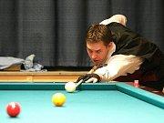Hráč kulečníku TJ Bižuterie Ziogas.