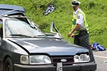Motorkář zemřel v v zatáčkách u Železného Brodu