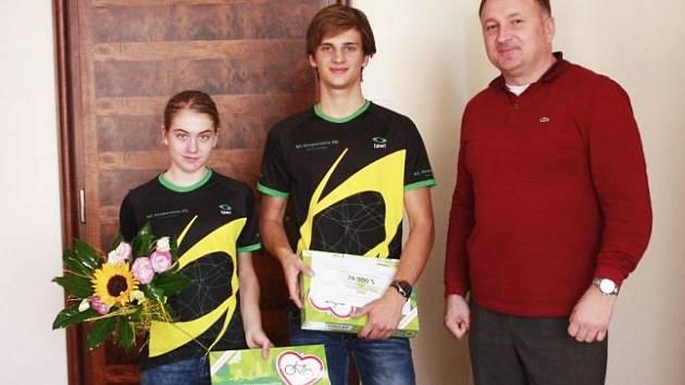Nikola Nosková, Roman Lehký a primátor Petr Beitl.