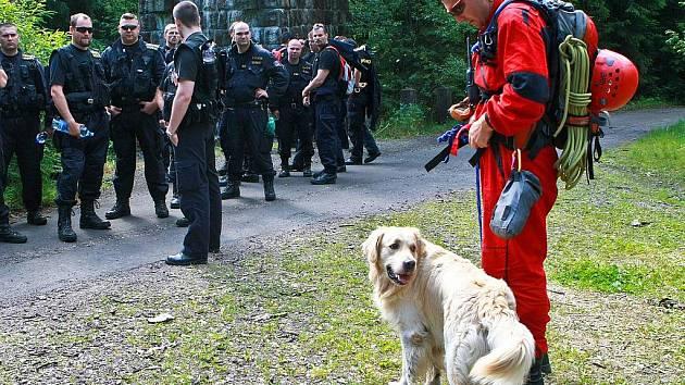 Akce Horské služby se psy. Ilustrační snímek.