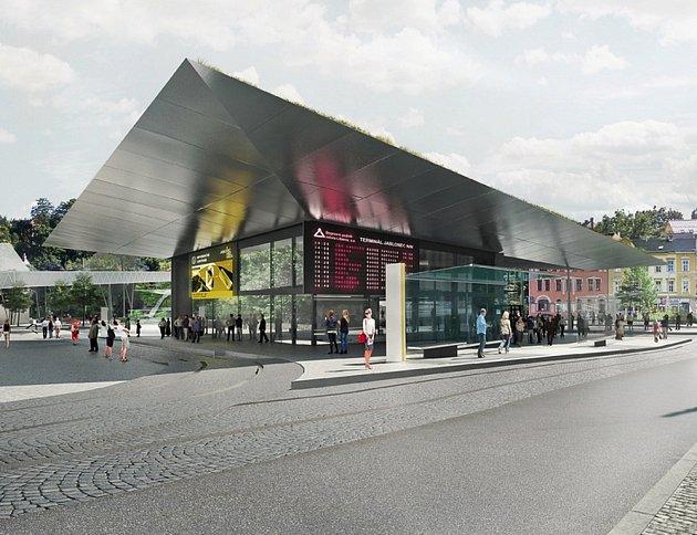 Jablonečtí radní potvrdili vítězný návrh na dopravní terminál v centru města. Ten podala architektonická kancelář Domyjinak.