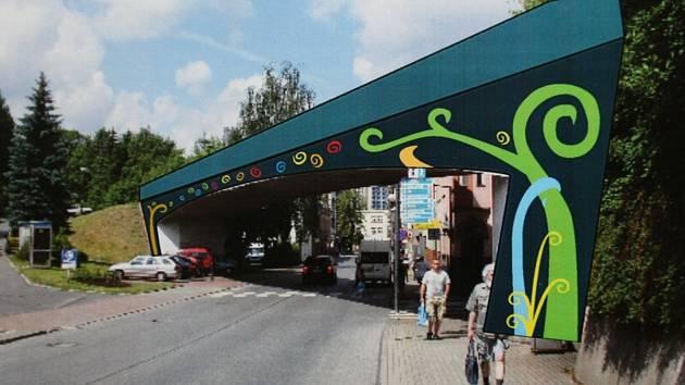 Jeden z návrhů řešení vzhledu viaduktu