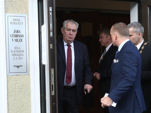 Prezident Miloš Zeman na návštěvě Tanvaldu.
