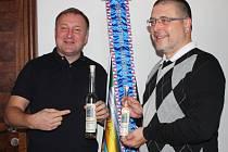 Primátor Petr Beitl (vlevo) a grafik Petr Winter
