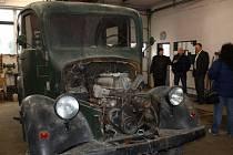 Staré hasičské auto již v Chrastavě