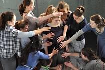 HMATATELNÁ KŘEHKOST byla posledním vystoupením letošní přehlídky. Diváci mohli vidět, jak kreativní byla během několikadenního pobytu v Jablonci choreografka Mirka Eliášová.