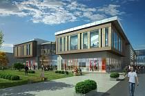 Vizualizace obchodního centra, které v centru Jablonce postaví Crestyl Group