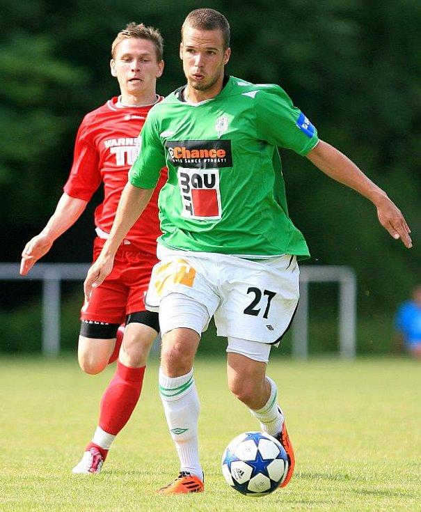 Jablonec si v generálce poradil a Varnsdorfem (v červeném) 5:0. Baumit čeká ve čtvrtek úvodní duel 2. předkola Evropské ligy.