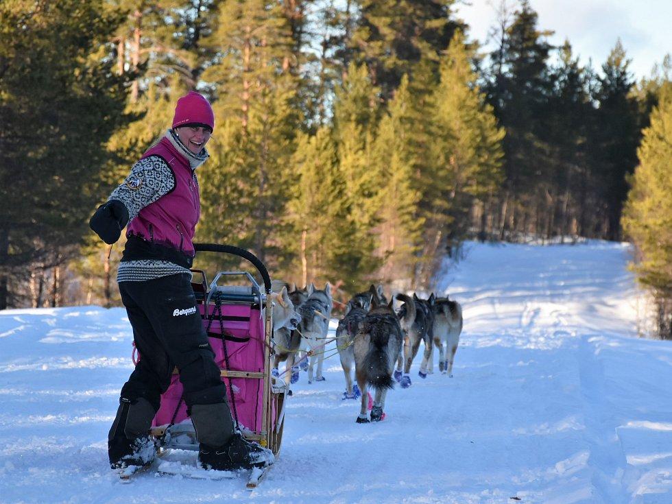 Musherka Jana Henychová vyráží se 14 psi na jeden ze tří nejdelších závodů psích spřežení na světě. Článek je v agentuře.