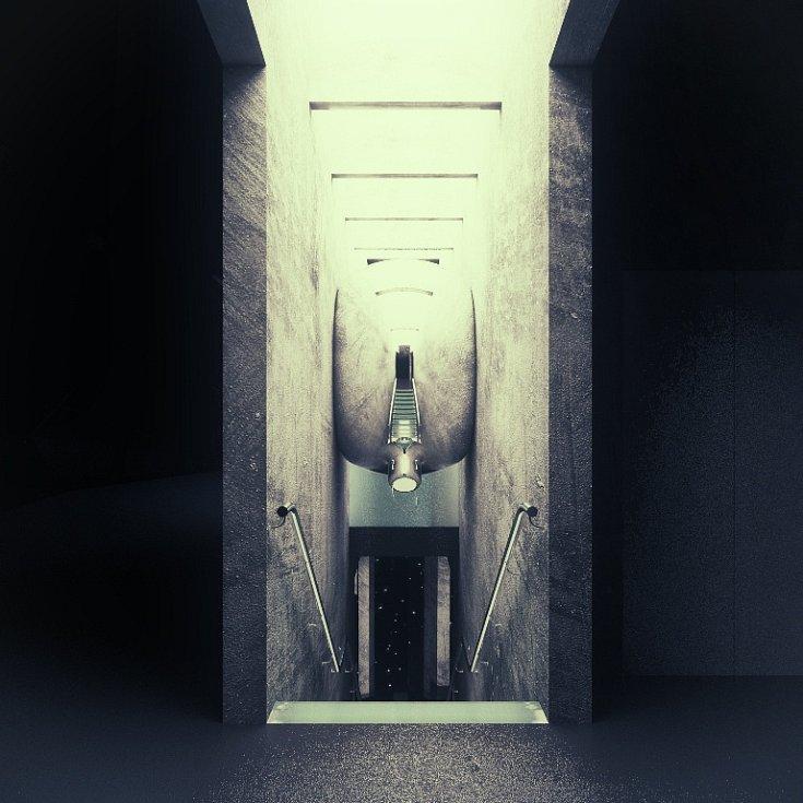 Přístavba hlavní budovy Muzea skla a bižuterie v Jablonci nad Nisou. Vizualizace přibližují, jak navrhl vlastní stavbu vítěz architektonické soutěže společnost Hlaváček - architekti, a taky budoucí podobu stále expozice vánočních ozdob, jejímž autorem je