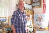 U alšovického malíře Leo Horáčka jsou k vidění krásné obrazy nejen z jeho rodného kraje, ale také z daleké ciziny.
