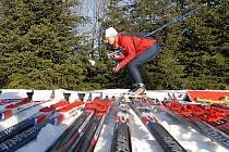 Běžecké lyžování. Ilustrační snímek.