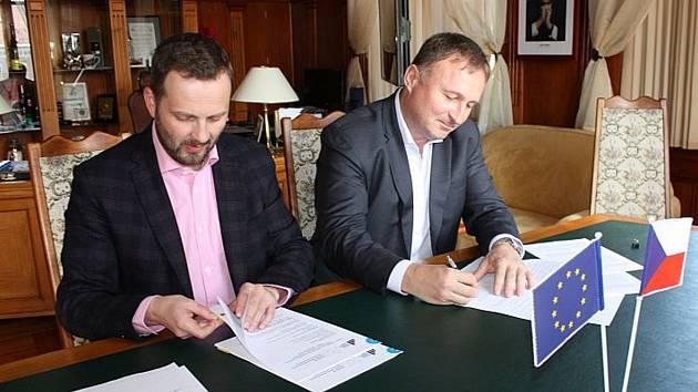 Primátoři Petr Beitl a Tibor Batthyány (vlevo)