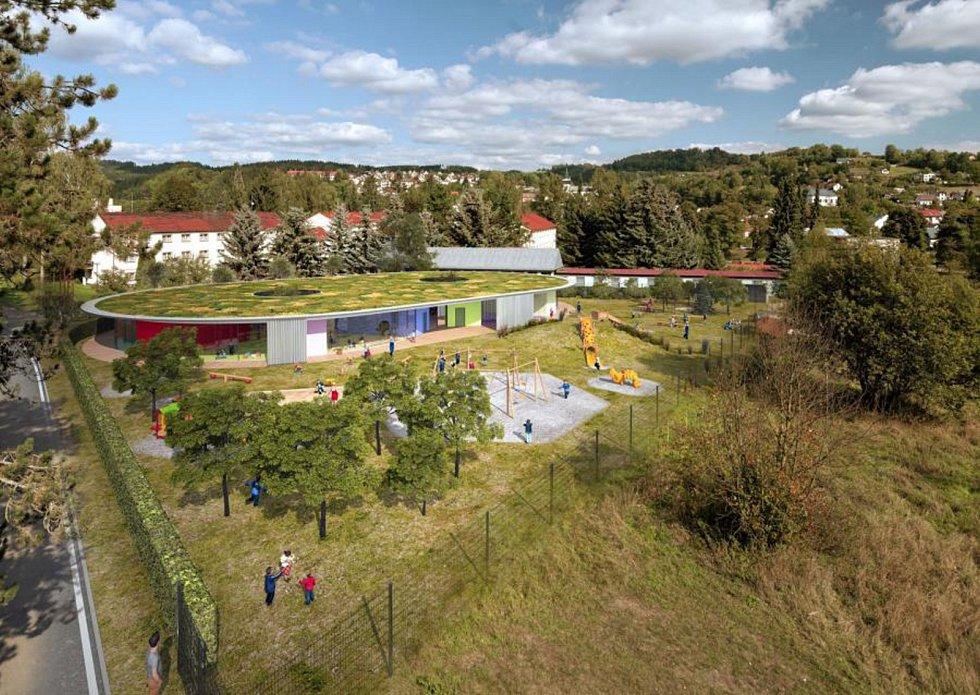 Vizualizace nové mateřské školky v Semilech.