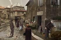 Vizualizace záběru pro připravovaný film Zemský soud, který se bude natáčet na Perštýně.