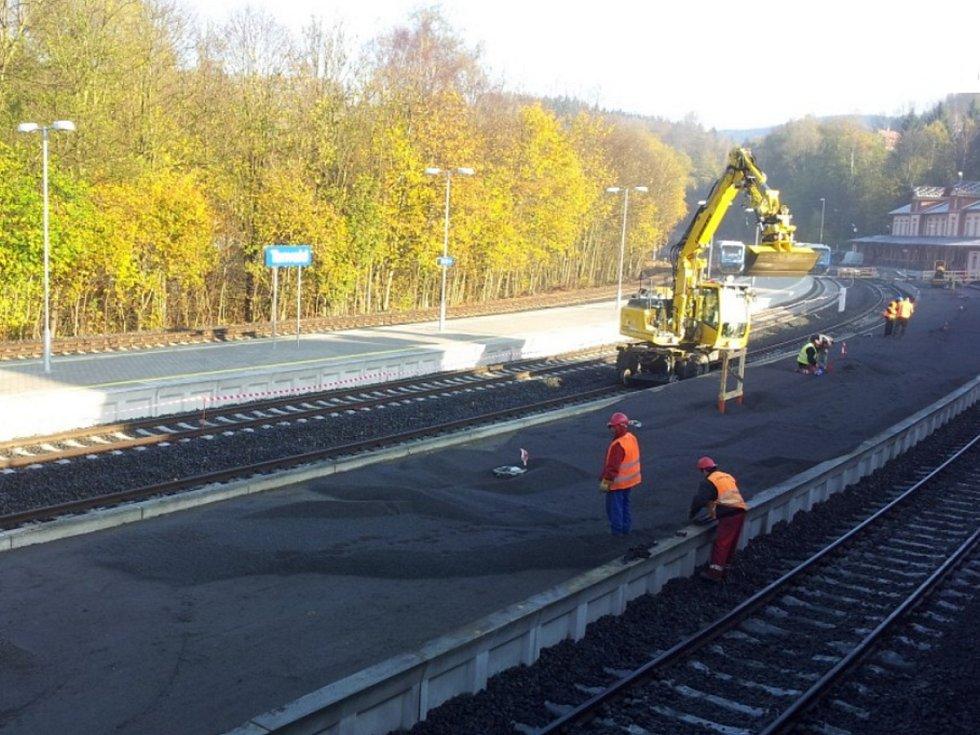 Rekonstrukcí prošlo i nádraží v Tanvaldu
