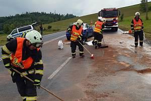 Vážná nehoda u obce Studenec