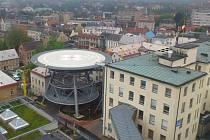 Pohled na heliport v Krajské nemocnici Liberec