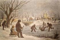 Vlastimil Rada - V zimě - výřez obrazu známého malíře
