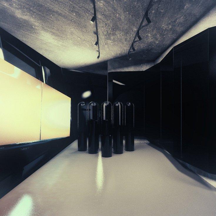 Budoucí podoba stálé expozice vánočních ozdob v Muzeu skla a bižuterie v Jablonci nad Nisou,  jejímž autorem je designér Jakub Berdych ml.