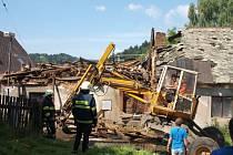 Částečná demolice zděného objektu