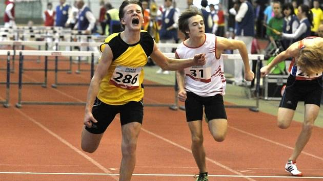 Tomáš Pulíček z AC Jablonec na archivním snímku z MČR - zlatý běh na 60 metrů s překážkami.