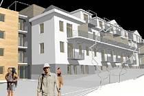Vizualizace ukazuje plánovaný vzhled bývalé dětské nemocnice v Jablonci.