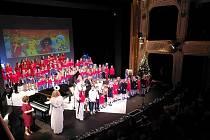 Svěceného Mikuláše hostili Vrabčáci v rámci svého koncertu.