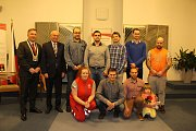Poděkování dárcům krve z Jablonecka a předávání stříbrných medailí Dr. Janského na radnici.
