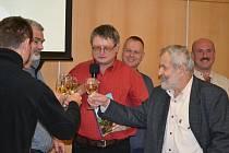Křest knihy Příběhy rozhledem Českosaského Švýcarska v Krajské vědecké knihovně.