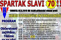 Plakát oslav 70. výročí založení Spartaku Rychnov