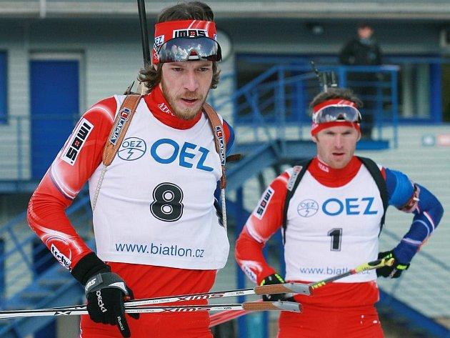 Jaroslav Soukup (8) s Michalem Šlesingrem (1) budou v Novém Městě bojovat o medaile.